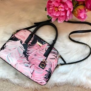 Kate Spade Brightwater Drive feather satchel purse
